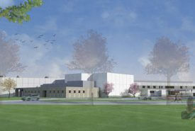 Rendering of exterior of building