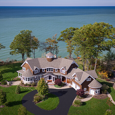 Drone of summer home