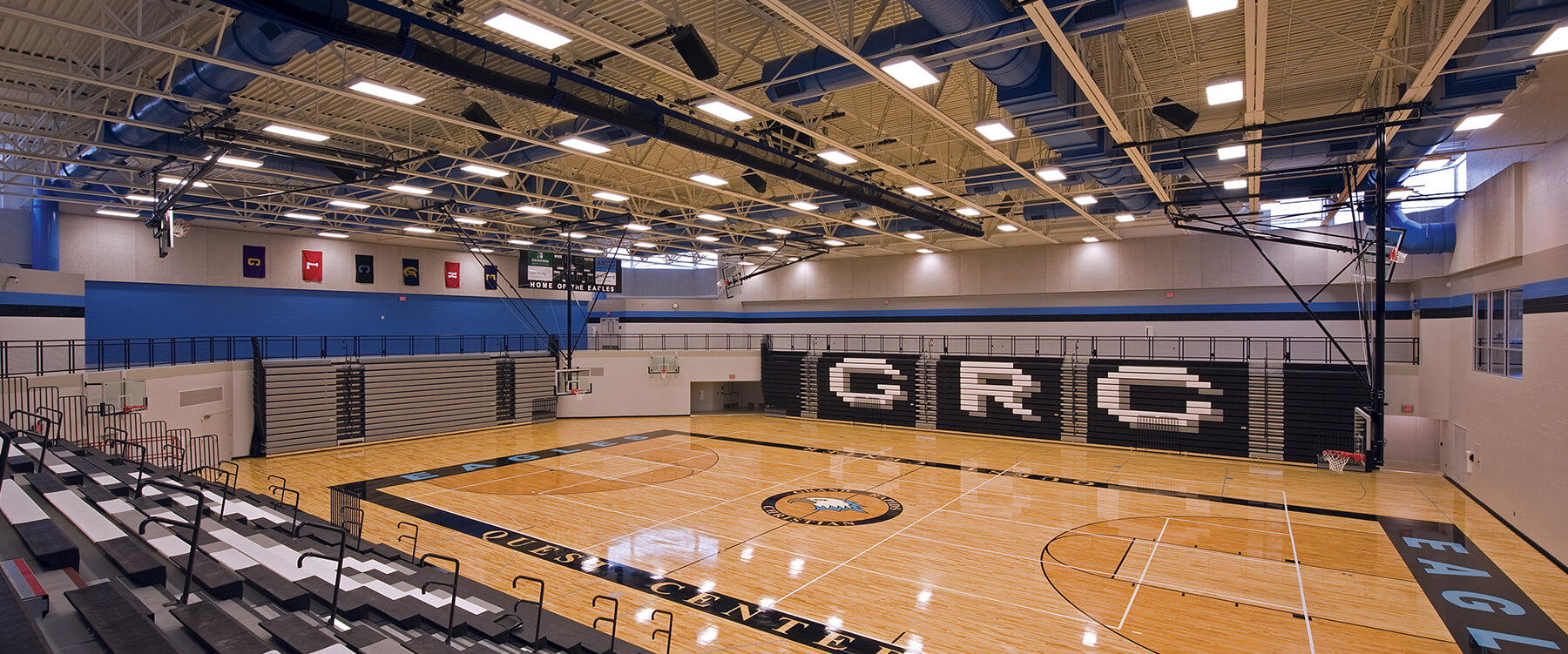 GRCHS Quest Center interior gym