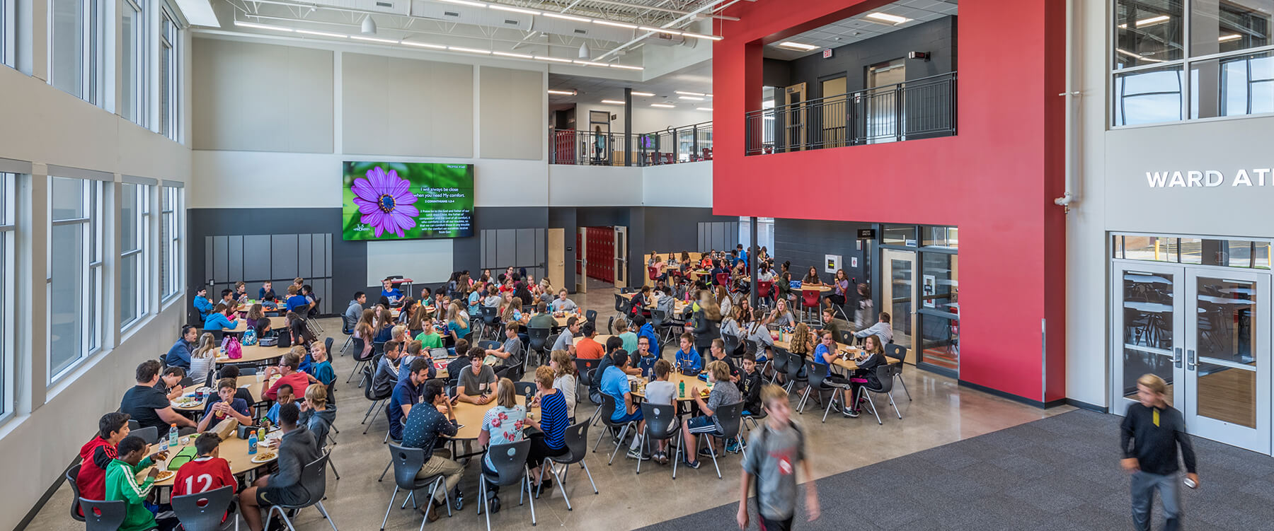 Timothy Christian Middle School Lunchroom and gathering space