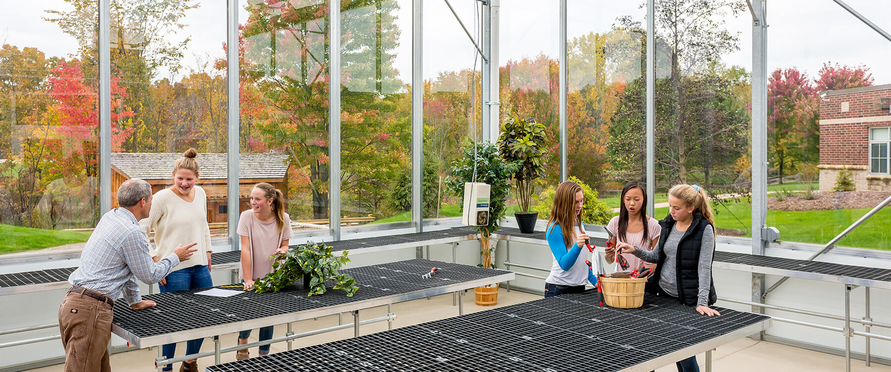 Ada Christian Integrated Outdoor Education greenhouse lesson
