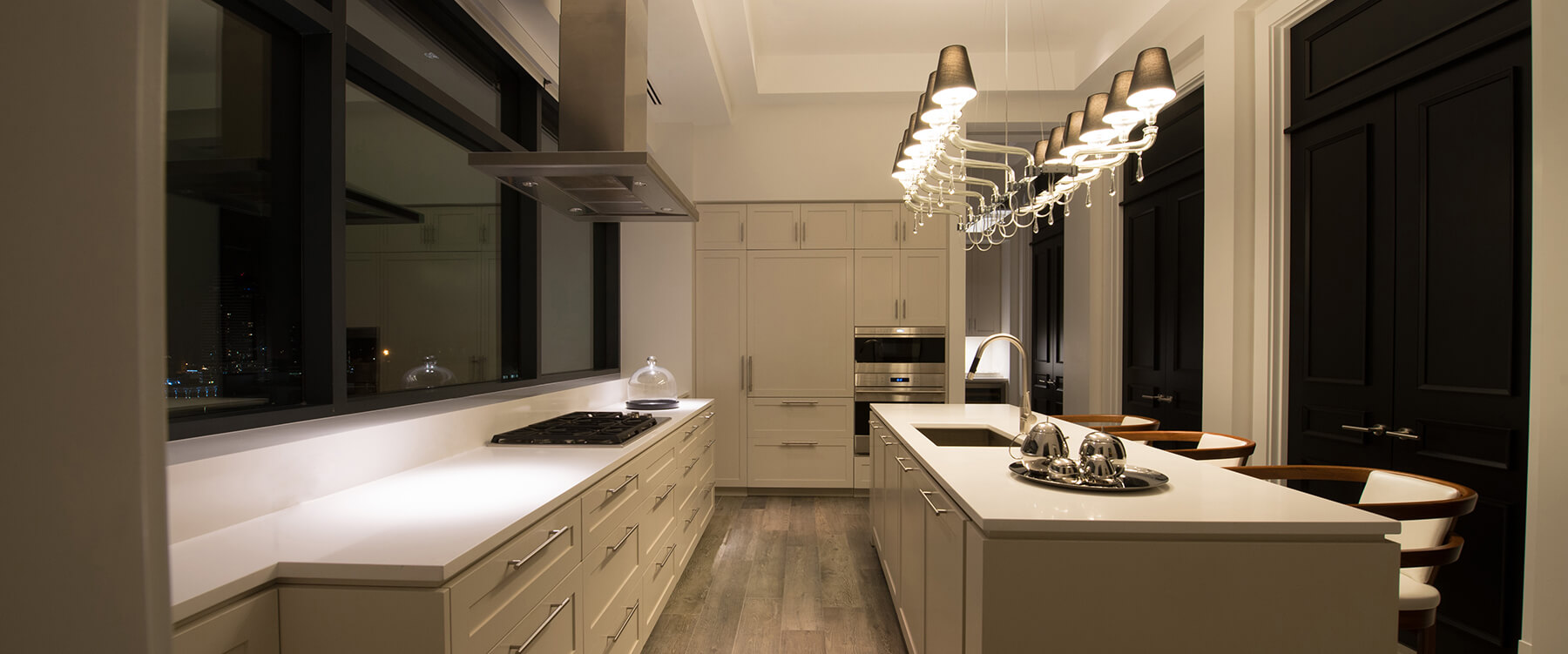 kitchen at urban penthouse