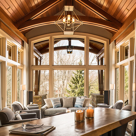Private residence sunroom