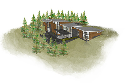 contemporary MI home rendering